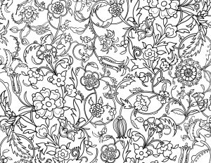 Floral Pattern Adult Coloring Page
